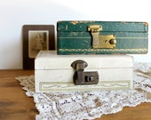 Vintage Jewelry Boxes. Petite and Shabby Pair