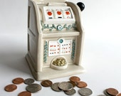 Black Friday Cyber Monday SaleVintage Fitz And Floyd Slot Machine Coin Bank.