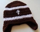 Newborn Football Earflap Hat- Free Shipping