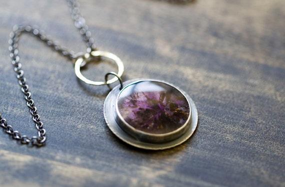 Amethyst Sterling Silver and 18K Gold Necklace - Velvet Memories