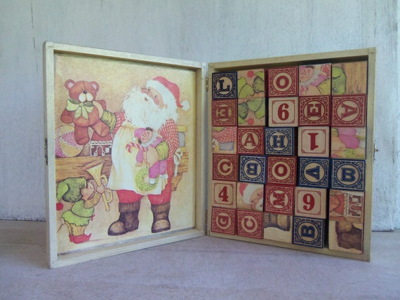 Vintage Wooden Block Set