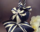 Fifth Avenue Ring Bearer and Flower Girl Basket Set - You Choose Your Colors