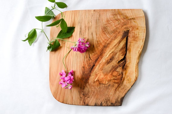 Rustic Natural Edge Wood Serving Board or Centerpiece 655, Ready to Ship