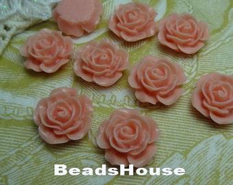 698-00-CA 8pcs (15mm) High Quality Rose Cabochon-Punk
