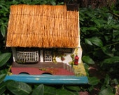 RESERVED for Susan-Pauline Ralph Post Office Thatched Roof Music box