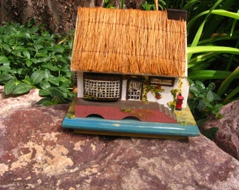 Pauline Ralph Post Office Thatched Roof Music box