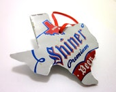 Texas beer can ornament
