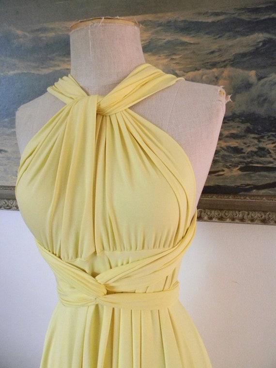 Sun Kissed Yellow Convertible Octopus Wrap Dress