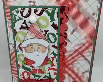 Christmas Santa - Blank NoteCard, Greetings Card, Handmade Card