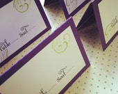 Mounted and Folded Escort / Place Cards - blank or customized