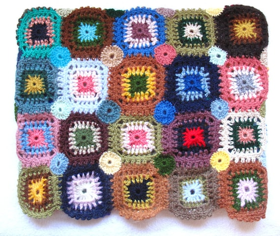 Crocheted Granny Square 11' inch MacBook Air Sleeve