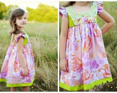 Pink, Orange, Purple, LIme, Lavender Dress, for girls, toddlers.