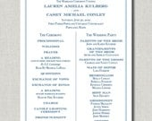 Anchor's Away Wedding Program - Set of 50 PRINTED programs by Abigail Christine Design