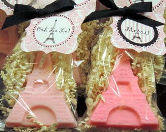 10 Eiffel Tower Soap Party Favors Bridal Shower Baby Shower Birthday Paris Parties Includes Tags