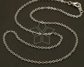 CH-079-OR // 10 Pcs - Chain Necklace with Lobster Clasp (SF235), Silver Plated over Brass / 18 inch