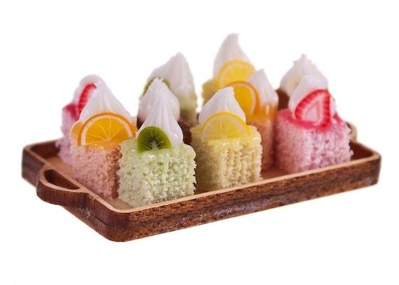 little fruit sponge cakes dollhouse miniature food