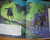 Vintage Book and Record The Headless Horseman of Sleepy Hollow Childrens 45 Halloween Scary Story