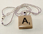 Scrabble Tile Necklaces - Letter Tile Necklace - Letter of Your Choice - Silver Chain - Personalized Jewelry
