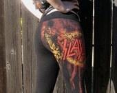 Slayer cropped lace up leggings