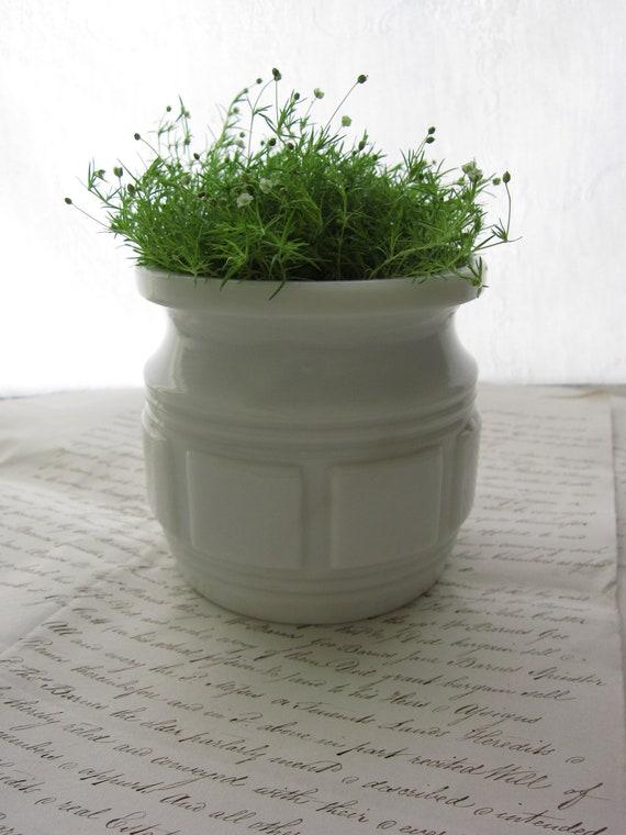 Milk Glass Planter