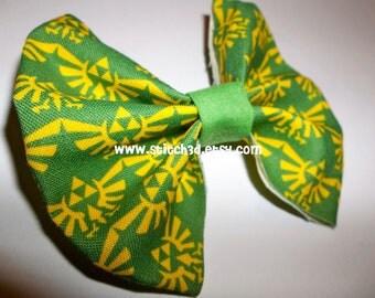 Legend of Zelda Triforce Eagle emblem crest Fabric hair bow or bow tie