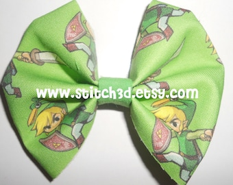 PREORDER Toon Link MINISH CAP legend of zelda Fabric hair bow or bow tie