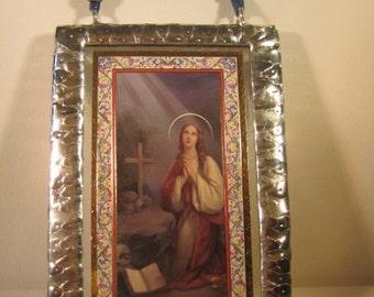 Catholic Saint Saint Mary Magdalene Stained Glass Holy Prayer Card Keepsake