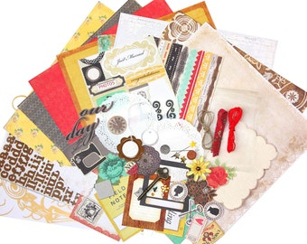 Crate paper Romantic wedding scrapbooking kit