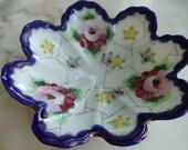 Antique Handpainted Bavarian China Dish //239