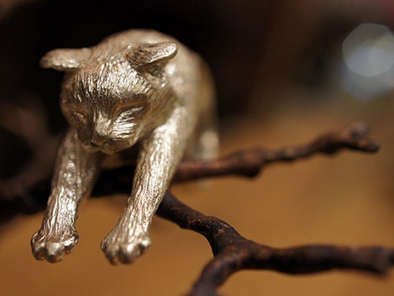 Lazy Cat Silver Ring