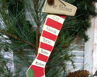 Stocking Christmas Ornament red