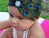 Sweet Honey Designs- Boho Chic Peacock Feather Headband