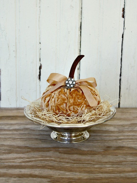 Vintage Silver Plate Bowl-Velvet Pumpkin