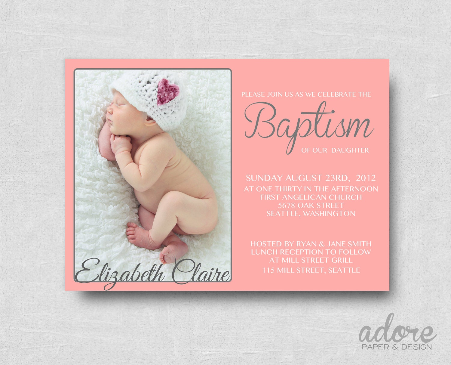 Make Christening Invitations is awesome invitation sample
