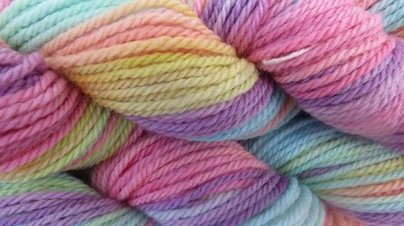 Sherbet Hand Dyed Merino Yarn Dk weight 120 yards