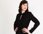 Clearance - Vintage 1960s LBD - 60s Little Black Dress - Black Rayon Crepe