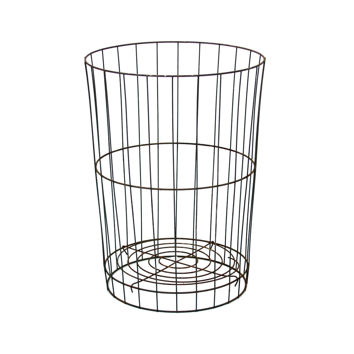 Vintage Tall Wire Wastebasket