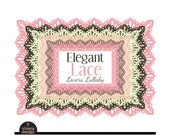 Rectangle Lace Frames - Elegant Lace - Lover's Lullaby - Digital Clip Art