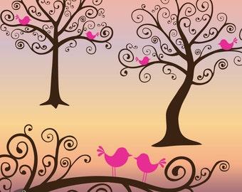 Whimsical Tree Clip Art - The Dreamy Tree