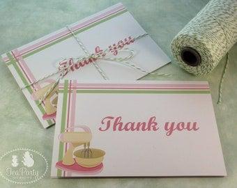 Baking Party Thank You Notes - Bake Shoppe Collection