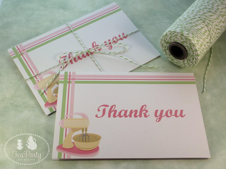 Thank You For Baking: Baking Party Thank You Notes Bake Shoppe Collection