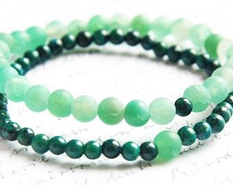 Boho Jewelry Couple bracelet Green Agate bracelet set Azurite Chrysocolla bracelet Stone bracelet Meditation yoga bracelet Mens bracelet