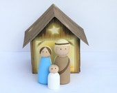 Peg Doll Nativity Set (3 Piece) by Craft That Party and Piggy Bank Parties