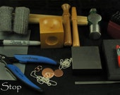 BASIC Metal Jewelry STAMPING KIT - The Tools You Need To Get Started - Includes Instructions
