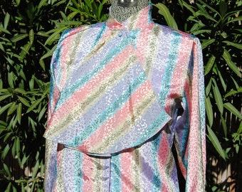 Vintage 1980's Pastel Blouse