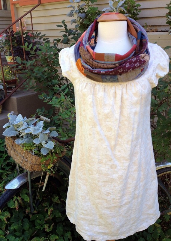 Eco Infinity Scarf, patchwork, jersey, repurposed, boho, urban, funky, recycled, earth jewel toned mix, Eco accessory,by Zasra