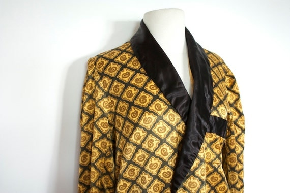 Vintage 1950's Mens GOLD Robe by MISTER EASE