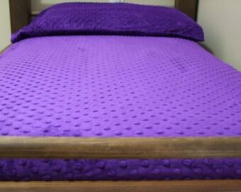 purple minky crib sheet purple sheet purple bedding purple nursery purple minky