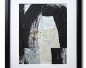 Black and White / Collage / Original Contemporary Abstract Painting / By Edmond Lacoste