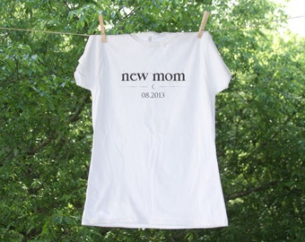 Vampire Inspired New Mom with Due Date Maternity Shirt: TR NewMom